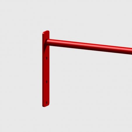 Barre Muscle Up 104 cm Extra Grip rouge Elements Stations Cross training Xenios USA  BSA PRO