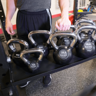 Option kettlebell tray