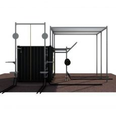 Container Outdoor Toiture - 20 Pieds Container Stations  BSA PRO