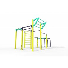 Triple Rack Dip et Wing Parc 60 m², Street Workout