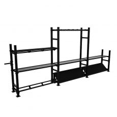 Wall ball rack 140 cm, Racks de Cross Training