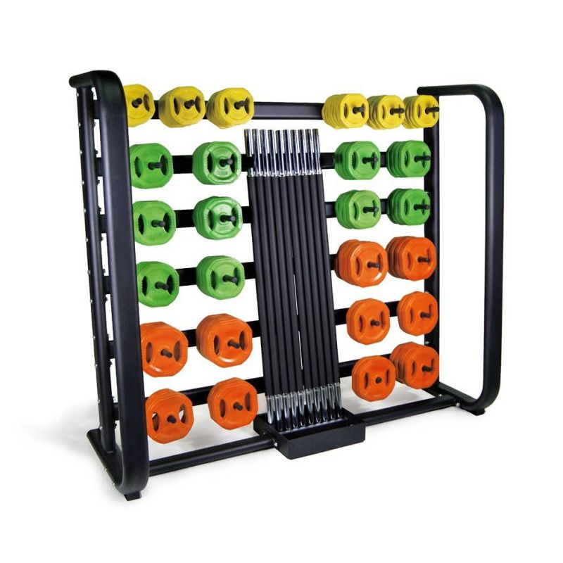 Ensemble 25 sets pump orange et rack, Kit pump et racks