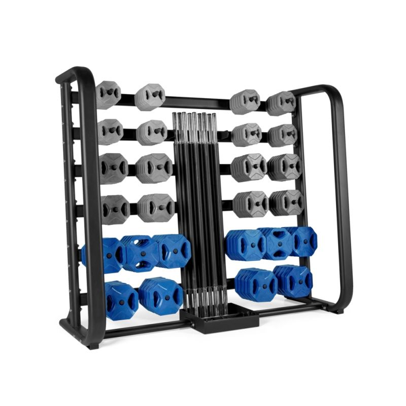 Ensemble 25 sets pump bleu et rack, Kit pump et racks